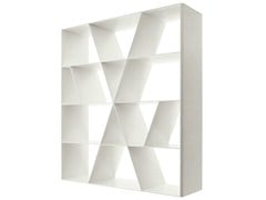 - Open double-sided Corian® bookcase SHELF X - B&B Italia