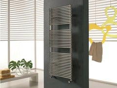 Hot-water brushed steel decorative radiator ELEN | Brushed steel towel warmer - CORDIVARI