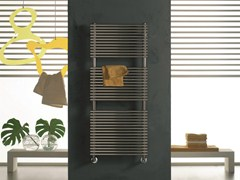 Hot-water glossy steel decorative radiator ELEN | Glossy steel towel warmer - CORDIVARI