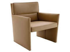 - Leather armchair with armrests POSA | Leather armchair - B&B Italia Project, a brand of B&B Italia Spa