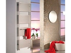 Electric wall-mounted decorative radiator STEFANIA | Brushed-finish towel warmer - CORDIVARI