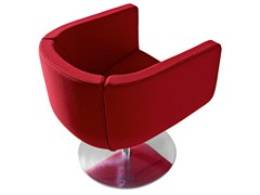 - Swivel upholstered fabric armchair with armrests TULIP SIXTYSIX - B&B Italia Project, a brand of B&B Italia Spa