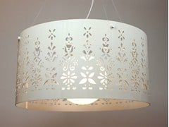 - Wood veneer pendant lamp LACE SATELLITE - Lampa