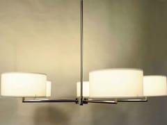 - Wood veneer chandelier STAR - Lampa