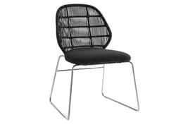 - Sled base polyethylene garden chair CRINOLINE   Garden chair - B&B Italia Outdoor, a brand of B&B Italia Spa