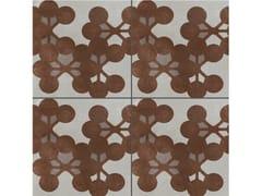 - Glazed stoneware wall/floor tiles AZULEJ GRIGIO FLORES - MUTINA