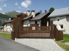 - Motorized Sliding wooden gate Wooden gate - CARMEC