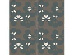 - Glazed stoneware wall/floor tiles AZULEJ NERO FLORES - MUTINA