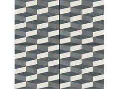 - Glazed stoneware wall/floor tiles AZULEJ NERO CUBO - MUTINA