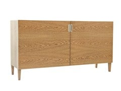 - Wood veneer sideboard with doors DELHI | Wood veneer sideboard - AZEA