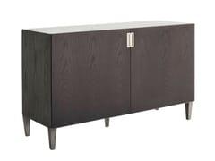 - Lacquered wood veneer sideboard with doors DELHI | Wood veneer sideboard - AZEA