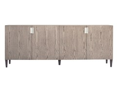 - Wood veneer sideboard with doors BANGALOR | Wood veneer sideboard - AZEA