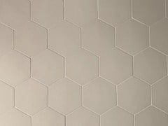 - Porcelain stoneware wall tiles PHENOMENON HEXAGON GRIGIO - MUTINA