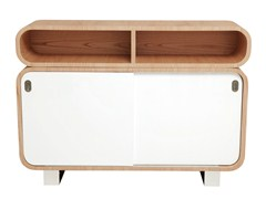 - 50s style sideboard with sliding doors MALLY | Sideboard with sliding doors - AZEA