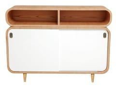 - 50s style wood veneer sideboard MALLY | Lacquered sideboard - AZEA
