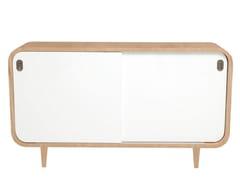 - Wood veneer sideboard with sliding doors MALLY | Sideboard - AZEA