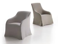 - Upholstered fabric armchair with armrests AGATHOS - Maxalto, a brand of B&B Italia Spa
