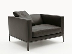 - Upholstered leather armchair with armrests SIMPLICITER | Armchair - Maxalto, a brand of B&B Italia Spa