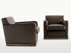 - Upholstered leather armchair with armrests IMPRIMATUR | Leather armchair - Maxalto, a brand of B&B Italia Spa