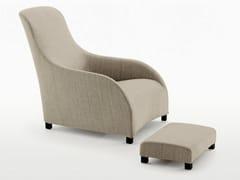 - Bergere high-back fabric armchair with footstool KALOS - Maxalto, a brand of B&B Italia Spa