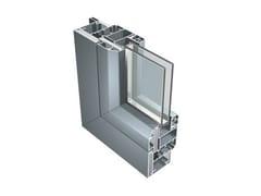 Finestra con doppio vetro di sicurezza in alluminioB 70 - ALUK GROUP