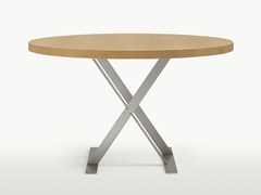 - Round steel and wood table MAX | Round table - Maxalto, a brand of B&B Italia Spa