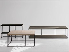 - Rectangular steel and wood coffee table LITHOS | Rectangular coffee table - Maxalto, a brand of B&B Italia Spa
