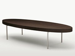 - Low oval solid wood coffee table EBE | Oval coffee table - Maxalto, a brand of B&B Italia Spa