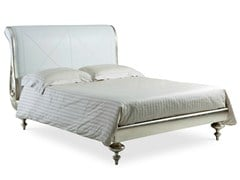 - Solid wood double bed with upholstered headboard VIVALDI | Bed with upholstered headboard - Cantori