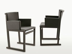 - Sled base solid wood chair with armrests MUSA | Chair with armrests - Maxalto, a brand of B&B Italia Spa