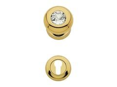 - Chromed brass door knob with Swarovski® Crystals with lock ELIKA CRYSTAL | Door knob with lock - LINEA CALI'