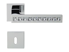 Design brass door handle with Swarovski® Crystals with lock REFLEX | Door handle with lock - LINEA CALI'