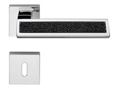 Design brass door handle with Swarovski® Crystals with lock RIFLESSO ROCKS | Door handle with lock - LINEA CALI'