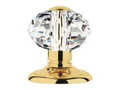 - Chromed brass door knob with Swarovski® Crystals VERONICA | Door knob - LINEA CALI'