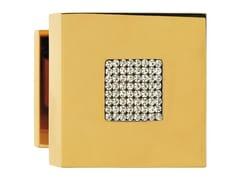 - Chromed brass door knob with Swarovski® Crystals ZEN MESH | Door knob - LINEA CALI'