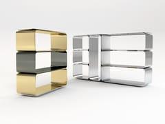 - Open sectional modular aluminium bookcase BRERA | Bookcase - altreforme