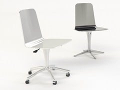 - Chair with 5-spoke base with casters LUWAN | Chair with casters - altreforme