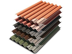 - Roofing panel and sheet in fibre cement PLAKFORT 6 Colorplus - EDILFIBRO