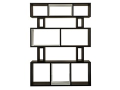 - Open wood veneer bookcase HYRAGANA | Open bookcase - AZEA