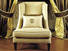 - High-back upholstered fabric armchair VITTORIA | Armchair - SOFTHOUSE