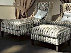 - Upholstered fabric pouf VITTORIA - SOFTHOUSE