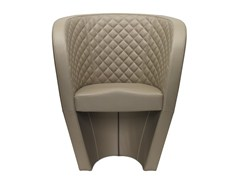 - Leather easy chair with armrests CHIC MATELASSÉ   Easy chair - SitLand