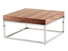 - Low square wood veneer coffee table AZON | Square coffee table - AZEA