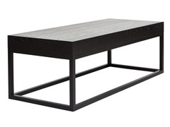 - Low rectangular wood veneer coffee table AZON | Rectangular coffee table - AZEA