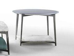 - Round marble coffee table DOUBLE | Round coffee table - FLEXFORM