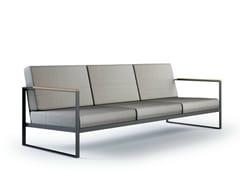 - Sled base 3 seater garden sofa GARDEN EASY | 3 seater sofa - Röshults