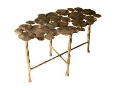 - Oval brass coffee table NYMPHEA - Hamilton Conte Paris