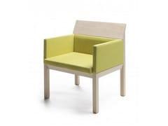 - Upholstered easy chair with armrests SEMINAR JRA2 - Nikari