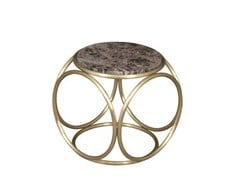 - Low round coffee table BRASS RINGS | Marble coffee table - Hamilton Conte Paris