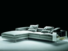 - Corner sectional fabric sofa with integrated bookshelve LIGHTPIECE | Sectional sofa - FLEXFORM